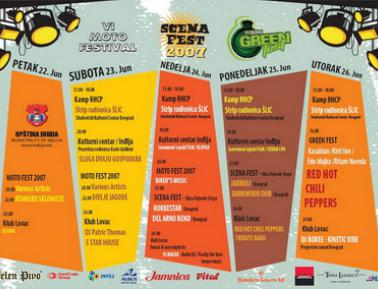Tuborg Green fest + RHCP, Indjija, 26.6.07.